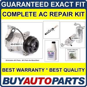 CHEVY SUBURBAN AC REPAIR KIT NEW COMPRESSOR 2003   2005