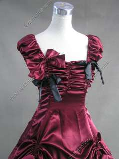 Southern Belle Gothic Satin Ball Gown Prom Dress 270 M