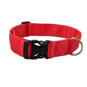 Heavy Duty Adjustable Red Nylon Dog Collar 1.25 Wide. Fits 15 25