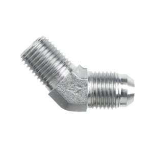 Brennan 2503 04 04 SS, Stainless Steel JIC Tube Fitting, 04MJ 04MP 45
