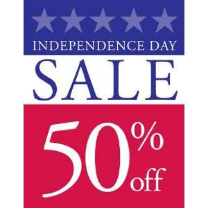 Independence Day Sale Red White Blue Sign
