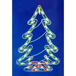 4 Multi Color LED Light Show Cone Christmas Tree Lighted