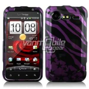 Pink/Black Zebra Stripe Design Case for HTC Droid