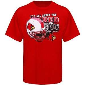 NCAA Louisville Cardinals Red All About T shirt