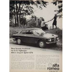 1967 Alfa Romeo Sprint GTV Bertone Sports Car Price Ad   Original