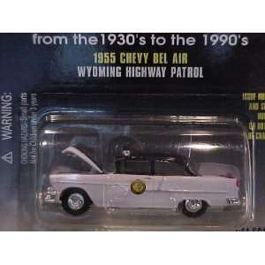 1955 Chevy Bel Air Wyoming Highway Patrol 1/64 Scale Toys & Games