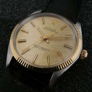 Rolex Mens Vintage Oyster No Date Two Tone Watch Steel/ Gold ref 1005