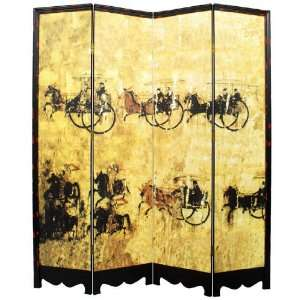6 ft. Tall Horse & Carriage Room Divider