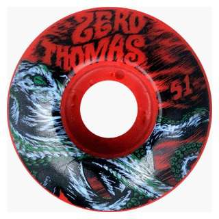 Zero Skateboards Thomas Octopus 51mm Red (4 Wheel Pack