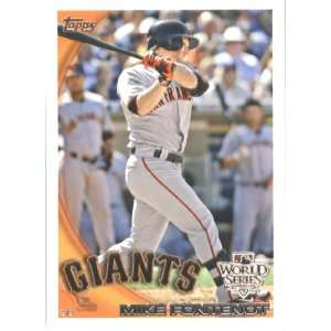 2010 Topps Nate Schierholtz San Francisco Giants World Series