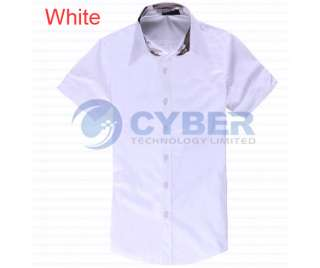 Mens Casual Slim fit Stylish Dress Short Sleeve Shirts