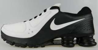 NIKE SHOX TURBO 10+ NEW Mens White Black iPod Ready Running Shoes Size