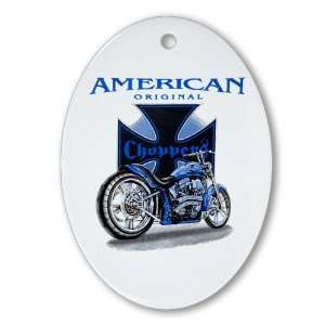 Ornament (Oval) American Original Choppers Iron Cross and