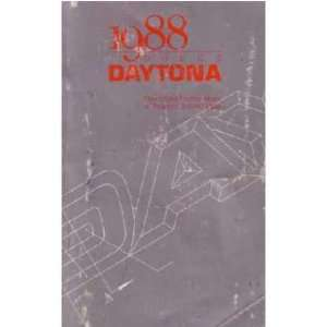 1988 DODGE DAYTONA Owners Manual User Guide Automotive