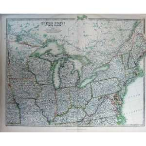 Atlas United States America North Map Geography C1901