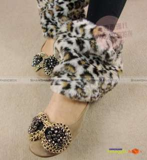 Women Fashion Warm Faux Fur Short Boot Socks Covers Muffs 20cm 11