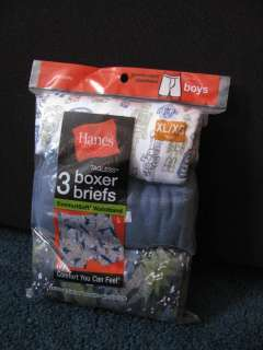BOYS FRUIT of the LOOM & HANES BOXER BRIEFS XL18 20 NIP