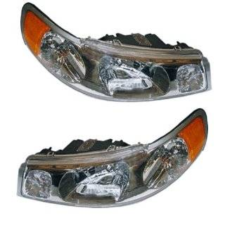 1998 2002 Lincoln Town Car Headlights Headlamps Head Lights Lamps Pair