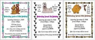 Dogs Puppy Wolf BIRTHDAY Party Personalized Invitations