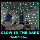 Glow in Dark Children Bedroom Deco Wall Stickers Decals Star Moon 2PCS