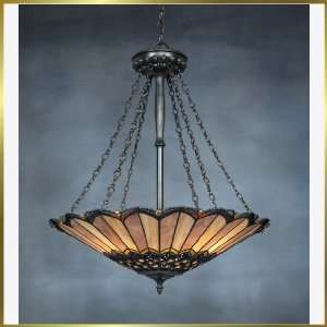 Tiffany Chandelier, QZTF1741VB, 3 lights, Antique Bronze, 24 wide X