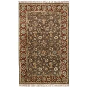 Estate 10506 Grey Brown Floral Area Rug 2.00 x 3.00.