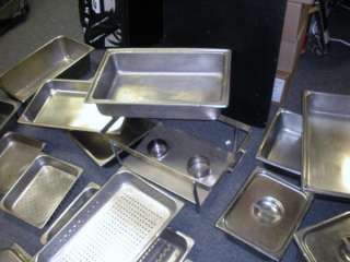 COMMERCIAL KITCHEN STEAM TABLE CHAFING DISHES, PANS, LIDS, ETC