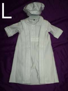 Baby Boy Christening Baptism Baby White Suit/Outfit/Ls;/ siZes XS S M