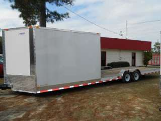 HYBRID ENCLOSED CARGO + OPEN UTILITY ATV, CAR HAULER TRAILER
