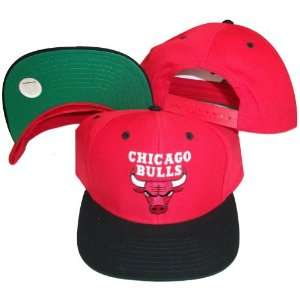 Red/Black Two Tone Snapback Adjustable Plastic Snap Back Hat / Cap