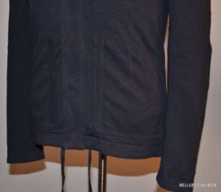 298 NWT ELIE TAHARI 100% COTTON NAVY HOODIE SWEATER JACKET SIZE S