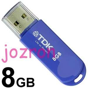 TDK Trans It Mini 8GB 8G USB Flash Pen Drive Disk Blue