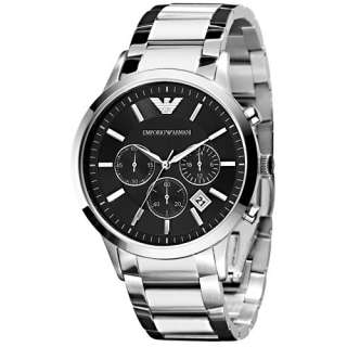 Brand New Emporio Armani Mens AR2434 Chronograph Stainless Steel
