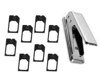 Micro Sim Card Cutter w/ 8 Sim Adapters for iPhone 4G OS