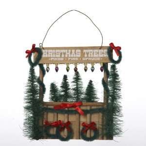 Pack of 12 Rustic Christmas Tree Stand Ornaments 5