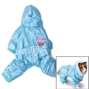 Blue Pet Dog Hoodie Hooded Winter Coat Jacket Jumpsuit