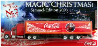 COCA COLA COKE GERMAN X MAS TRUCK US PETERBILT 378 SEMI TRAILER 1