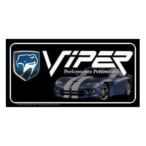 Metal Novelty Car License Plate Dodge Viper Everything