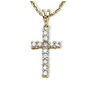 14kt Yellow Gold Diamond Cross Pendant 0.25ct TW* Jewelry