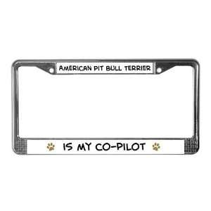 American Pit Bull Terrier Pets License Plate Frame by
