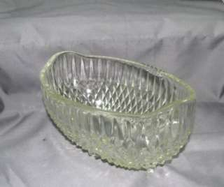 Vintage Indiana Glass Diamond Point Oval Bowl
