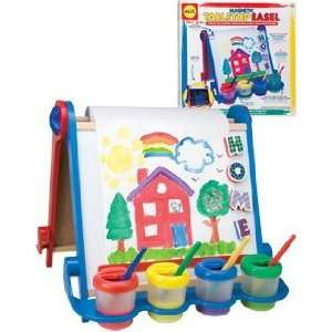Magentic Tabletop Easel Filled with Magnetic Letters Toys & Games