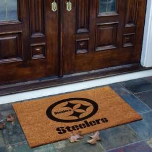 Pittsburgh Steelers Flocked Door Mat   NFL Sports