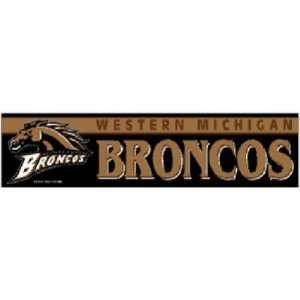 Western Michigan Broncos Official Logo Bumper Sticker Automotive