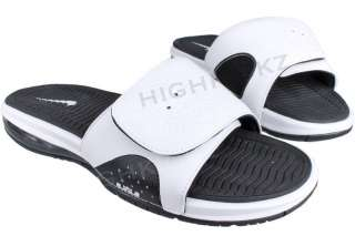 Nike Air Lebron Slide 487332 100 New Men White Black Flip Flop