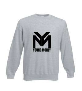 MONEY LOGO YMCMB Crew Neck Jumper LIL WAYNE BIEBER HIP HOP SWEATER NEW