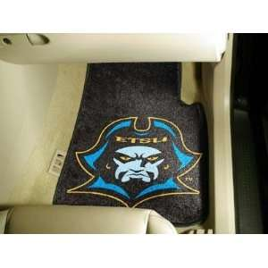 East Tennessee State University 2 Piece Front Car Mats