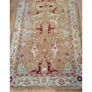 Traditional Floral Red and Gold Tones Rug 3.00 x 5.00.