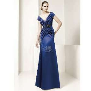 Satin Formal Bridesmaid Prom Dress Holiday Gown