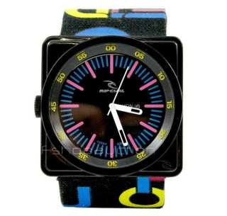 Rip Curl Subic Par Black Mens Leather Surf Watch RP$250